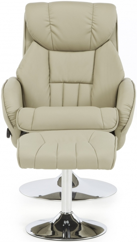 Serene Larvik Taupe Faux Leather Recliner Chair