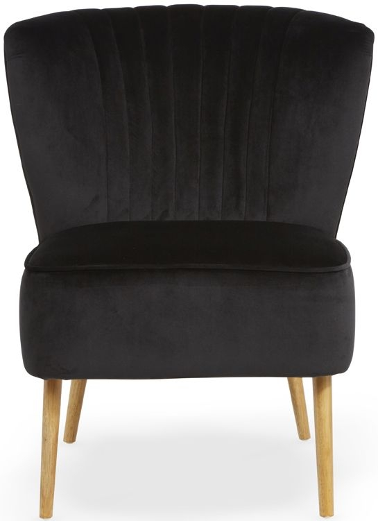 Serene Prestwick Black Fabric Chair