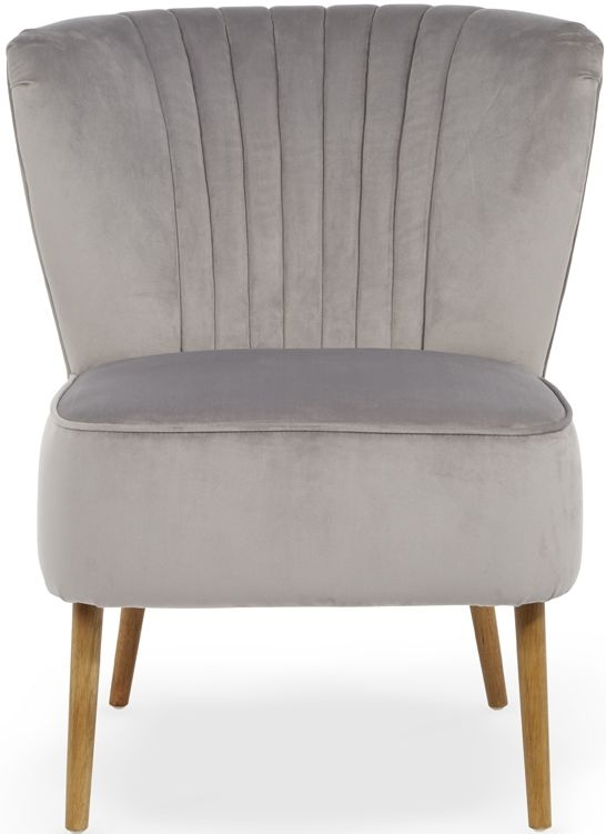 Serene Prestwick Silver Fabric Chair