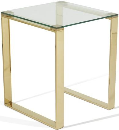 Serene Kayla Lamp Table - Glass and Gold
