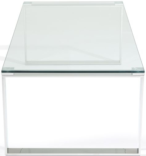 Serene Kayla Stainless Steel and Glass Coffee Table