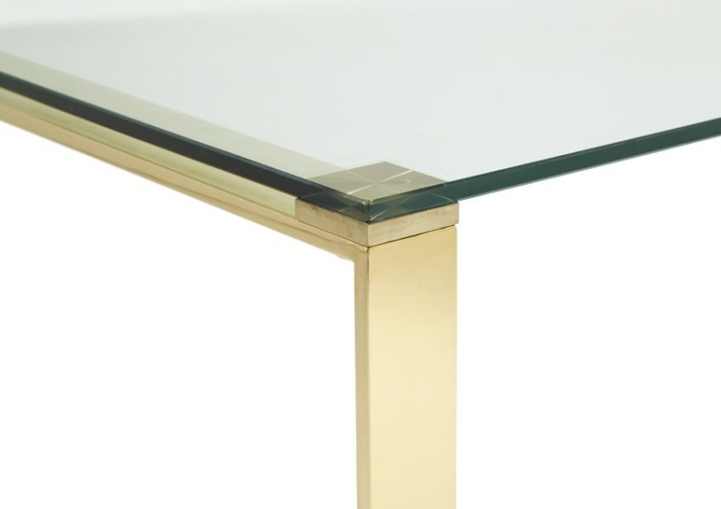 Serene Kayla Coffee Table - Glass and Gold