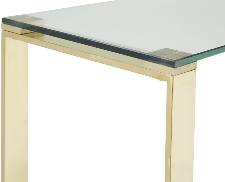 Serene Kayla Console Table - Glass and Gold
