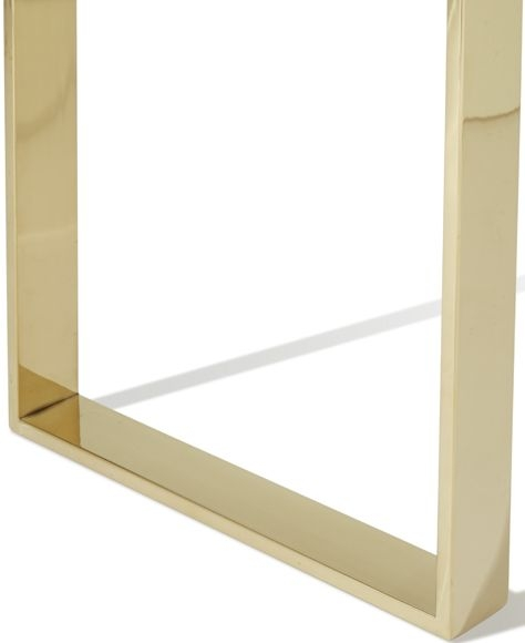 Serene Kayla Gold and Glass Console Table