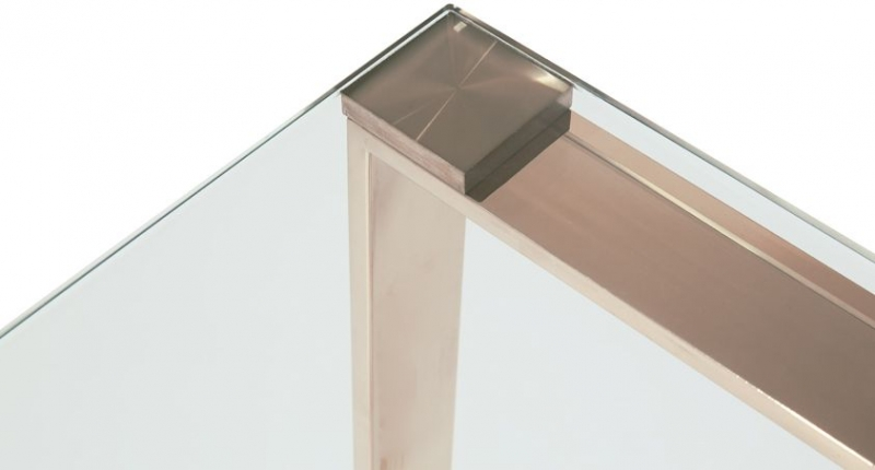 Serene Kayla Console Table - Glass and Rose Gold