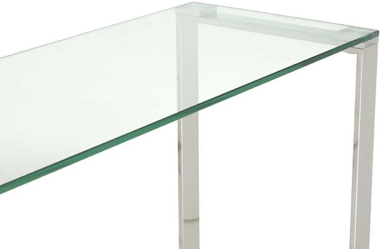 Serene Kayla Stainless Steel and Glass Console Table