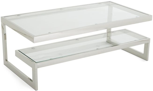 Serene Mera Stainless Steel and Glass Coffee Table