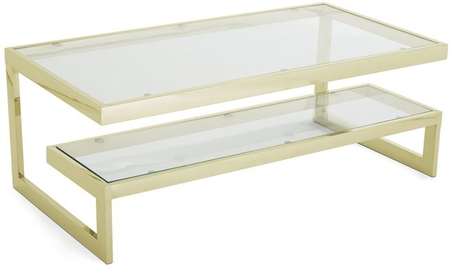 Serene Mera Coffee Table - Glass and Gold