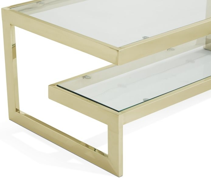Serene Mera Gold and Glass Coffee Table