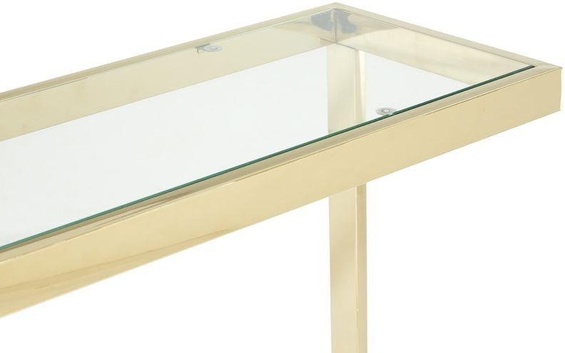 Serene Mera Gold and Glass Console Table