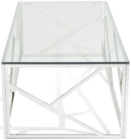 Serene Phoenix Stainless Steel and Glass Coffee Table