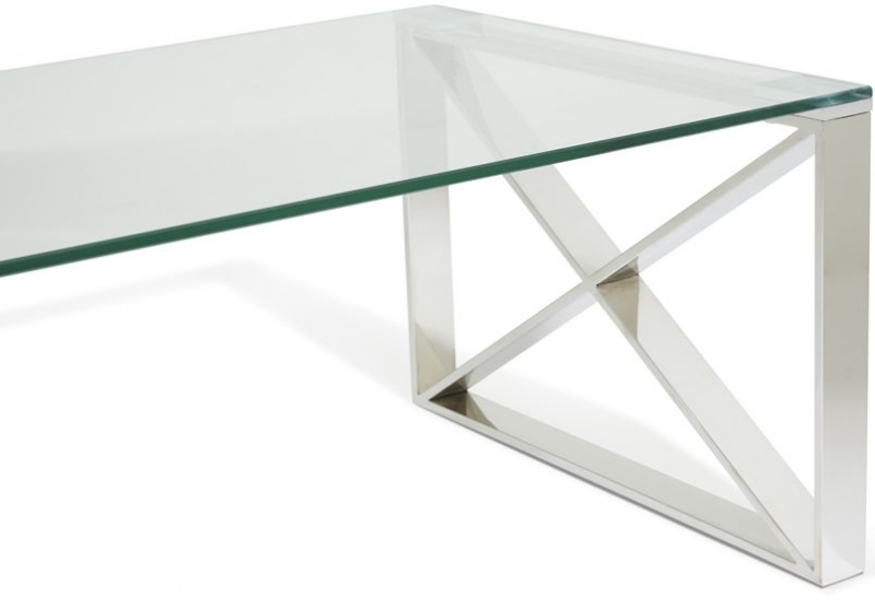 Serene Astra Coffee Table - Glass and Chrome