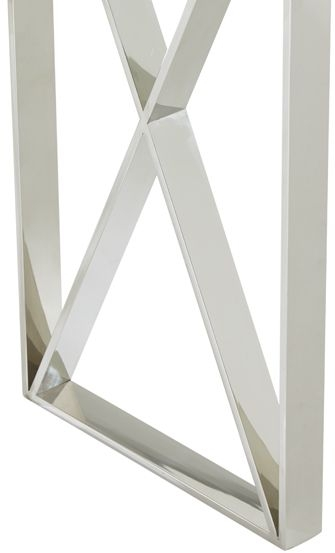 Serene Astra Console Table - Glass and Chrome