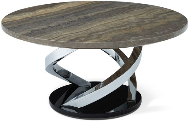 Serene Pandora Marble and Chrome Coffee Table