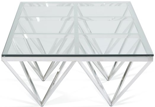 Serene Star Glass Rectangular Coffee Table