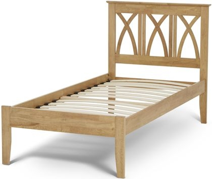 Serene Hevea Wood Autumn Honey Oak Bed