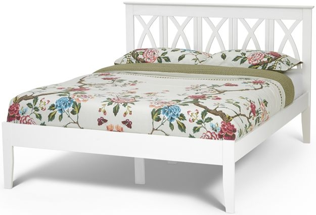 Serene Hevea Wood Autumn Opal White Bed