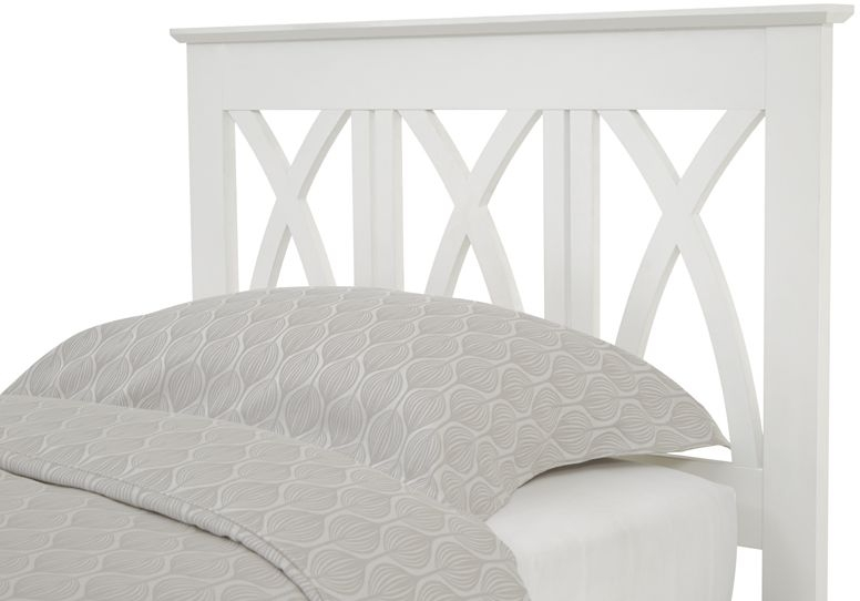 Serene Hevea Wood Autumn Opal White Guest Bed