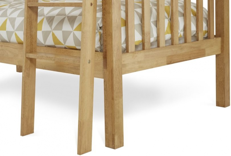 Serene Hevea Wood Ella Honey Oak Bunk Bed