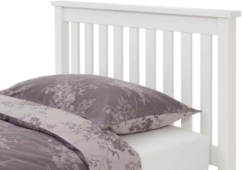 Serene Hevea Wood Heather Opal White Guest Bed