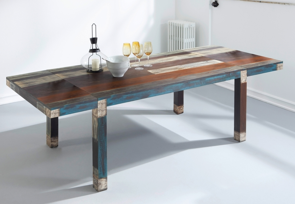 URBAN Vintage Shabby Chic Rectangular Extending Dining Table - 160cm-250cm
