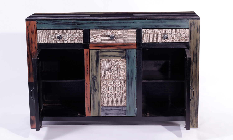 URBAN Vintage Shabby Chic 3 Door 3 Drawer Wide Sideboard