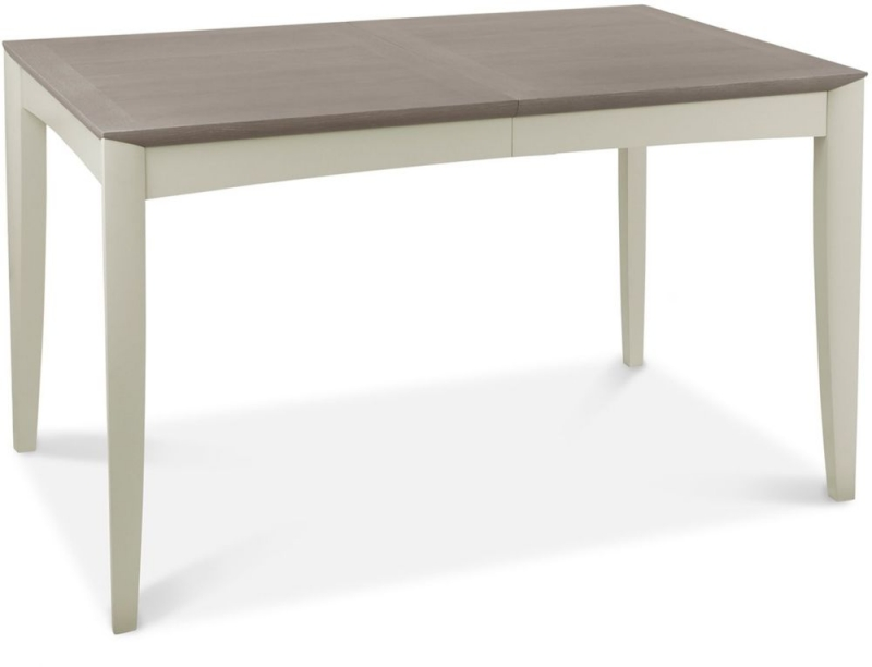 Bentley Designs Bergen Grey Washed Oak and Soft Grey 4-6 Seater Rectangular Extending Dining Table - 130cm-170cm