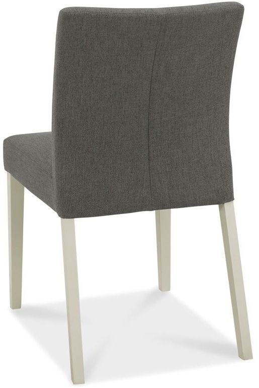 Bentley Designs Bergen Soft Grey and Cold Steel Fabric Dining Chair (pair)