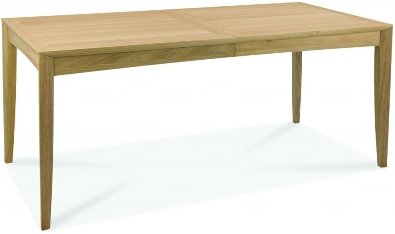 Bentley Designs Bergen Oak 6-8 Seater Rectangular Extending Dining Table - 180cm-225cm