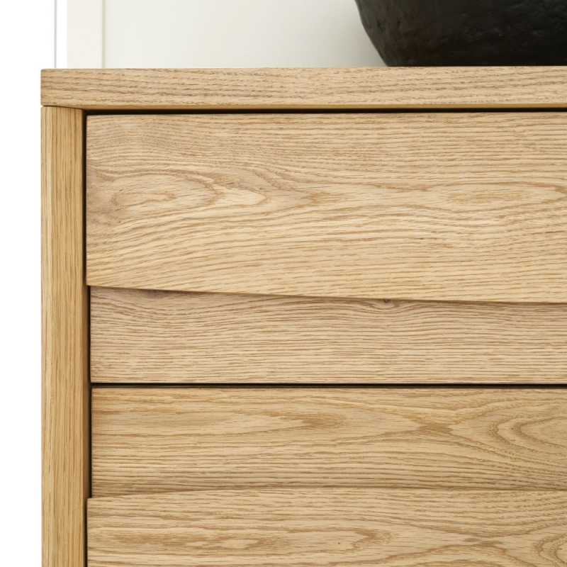 Bentley Designs Cadell Rustic Oak 3 Door Wide Sideboard