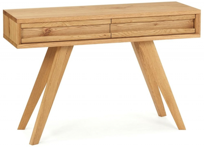 Bentley Designs Cadell Rustic Oak 2 Drawer Console Table