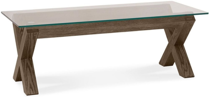 Bentley Designs Turin Dark Oak Glass Coffee Table