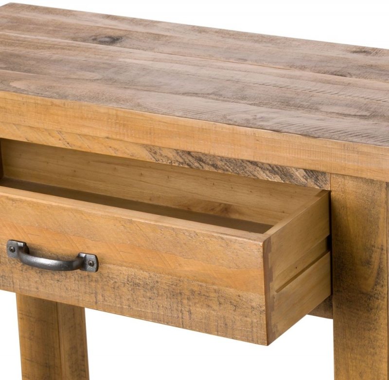 Hill Interiors Deanery Solid Rustic Pine 1 Drawer Lamp Table
