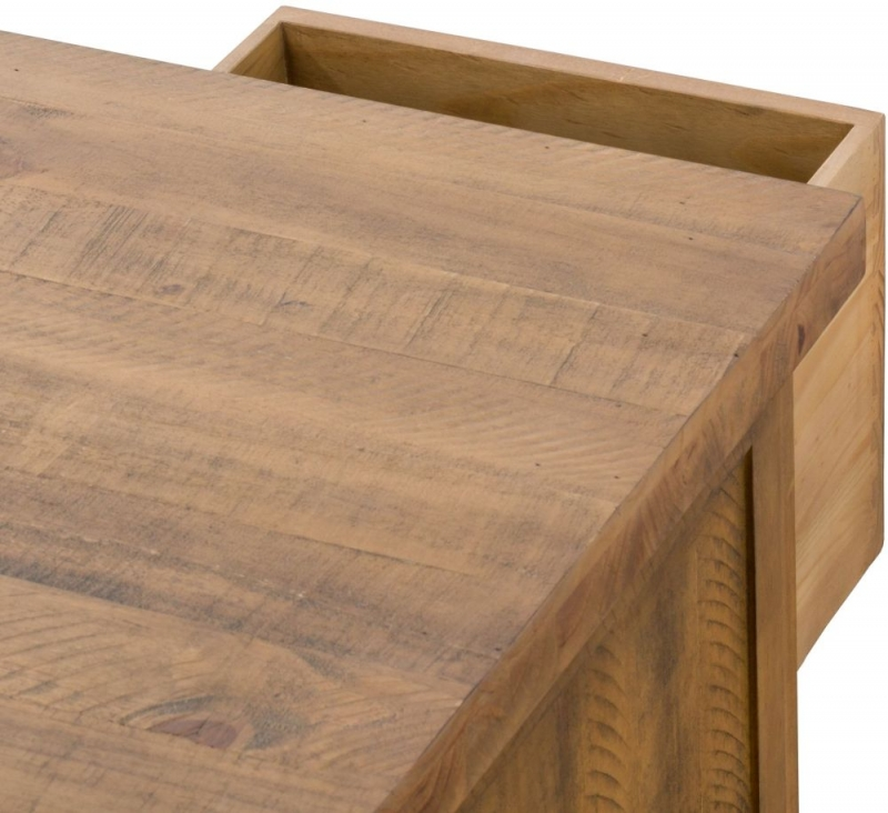 Hill Interiors Deanery Solid Rustic Pine 6 Drawer Storage Coffee Table