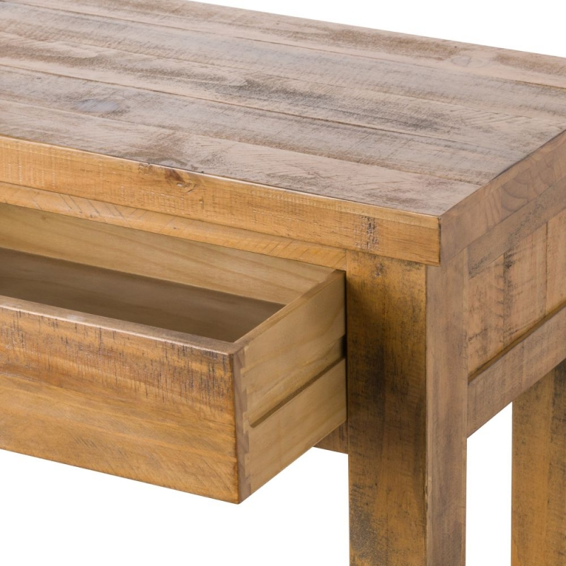 Hill Interiors Deanery Solid Rustic Pine 2 Drawer Console Table