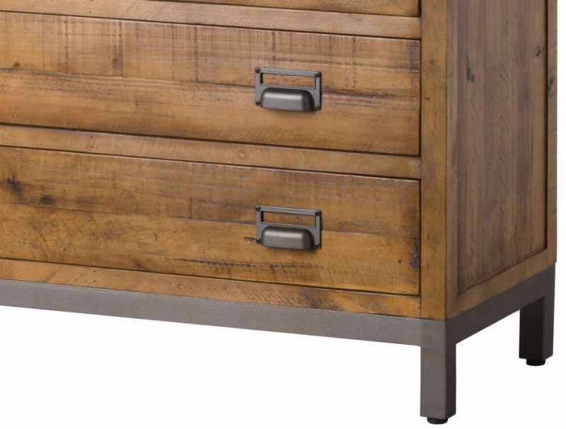 Hill Interiors Draftsman Solid Pine 5 Drawer Chest