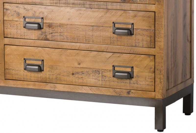 Hill Interiors Draftsman Solid Pine 6 Drawer Chest