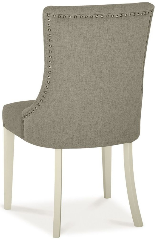 Bentley Designs Chartreuse Antique White Titianium Fabric Dining Chair (Pair)