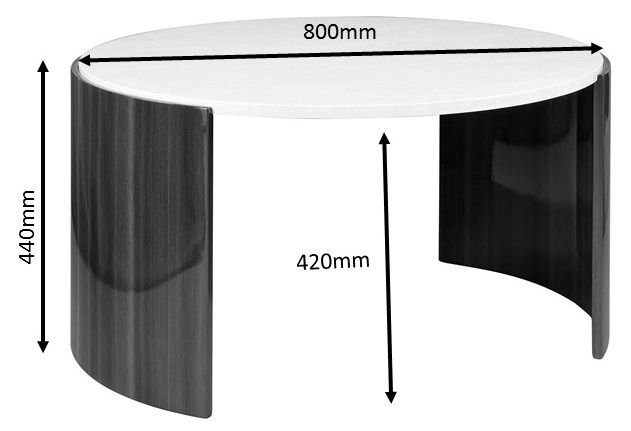 Jual Milan Walnut and Cream High Gloss Coffee Table JF902