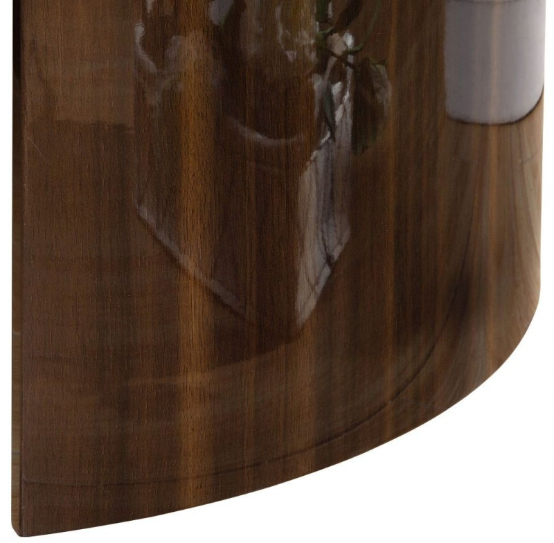 Jual Milan Walnut and Cream High Gloss Nest of Tables JF905