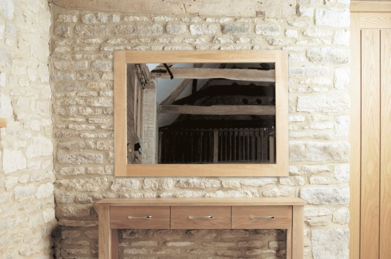 Baumhaus Mobel Oak Medium Wall Mirror