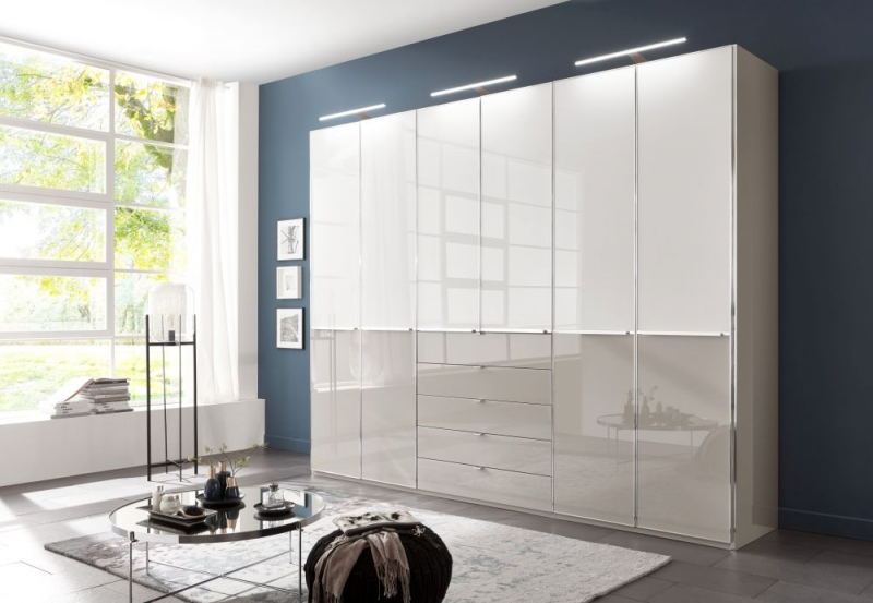 Wiemann VIP Shanghai 2 Sliding Wardrobe with Chrome Color Handle and Cross Trim