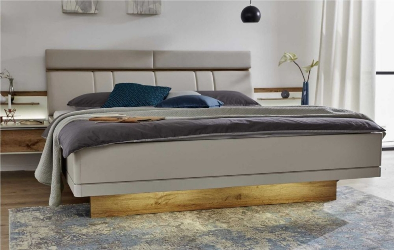 Wiemann Sita Futon Bed with Faux Leather Cushion Headboard