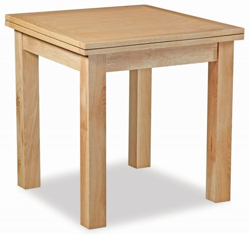 Global Home New Trinity Oak Square Extending Dining Table - 85cm-170cm