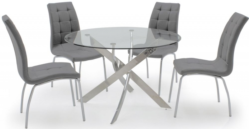 Buy Vida Living Nina Grey Dining Chair Pair Online Cfs Uk