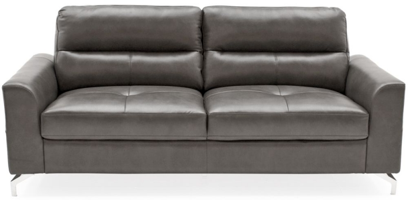 Vida Living Tanaro 3+2+1 Seater Sofa - Grey Leathaire