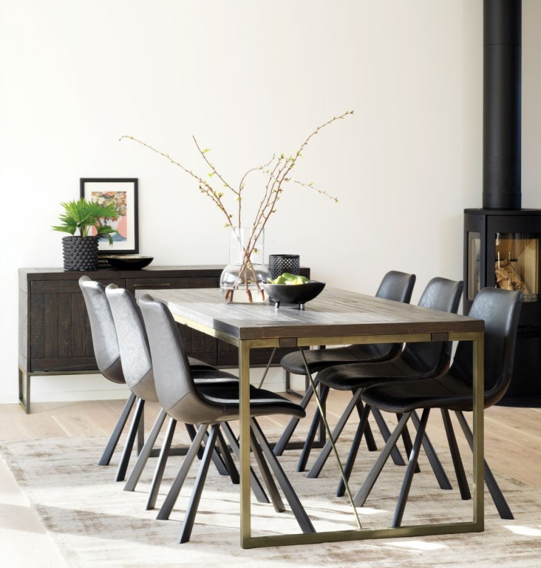 Picadilly Bronze 180cm Rectangular Dining Table