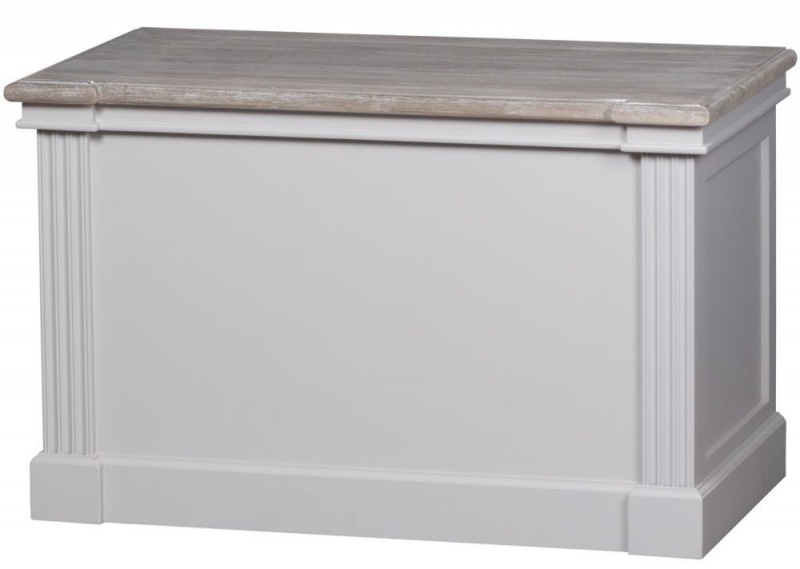 Hill Interiors The Liberty White Painted Set of 2 Blanket Boxes