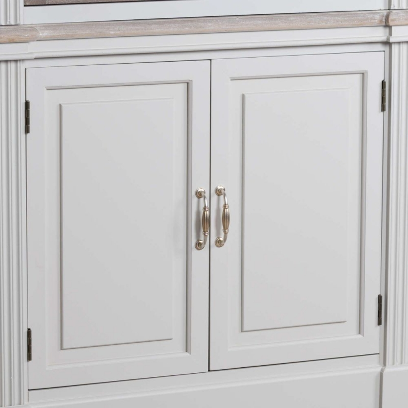 Hill Interiors Liberty White Painted Linen Louvred Cupboard