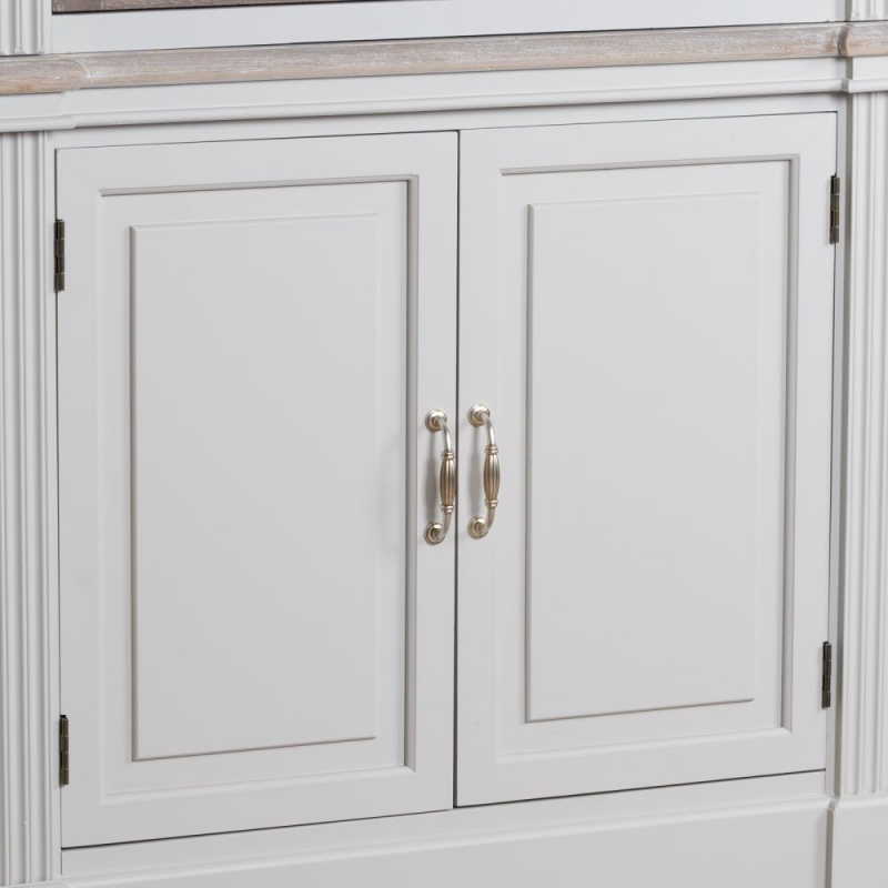 The Liberty White Painted Linen Cupboard With Louvred Door